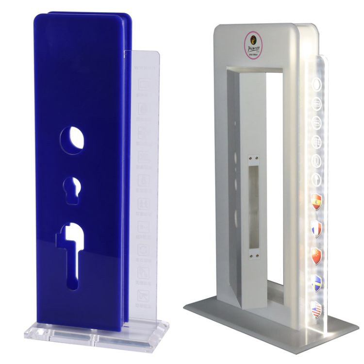 工厂订做智能亚克力锁架 智能锁架 亚克力锁架 亚克力门锁展示架