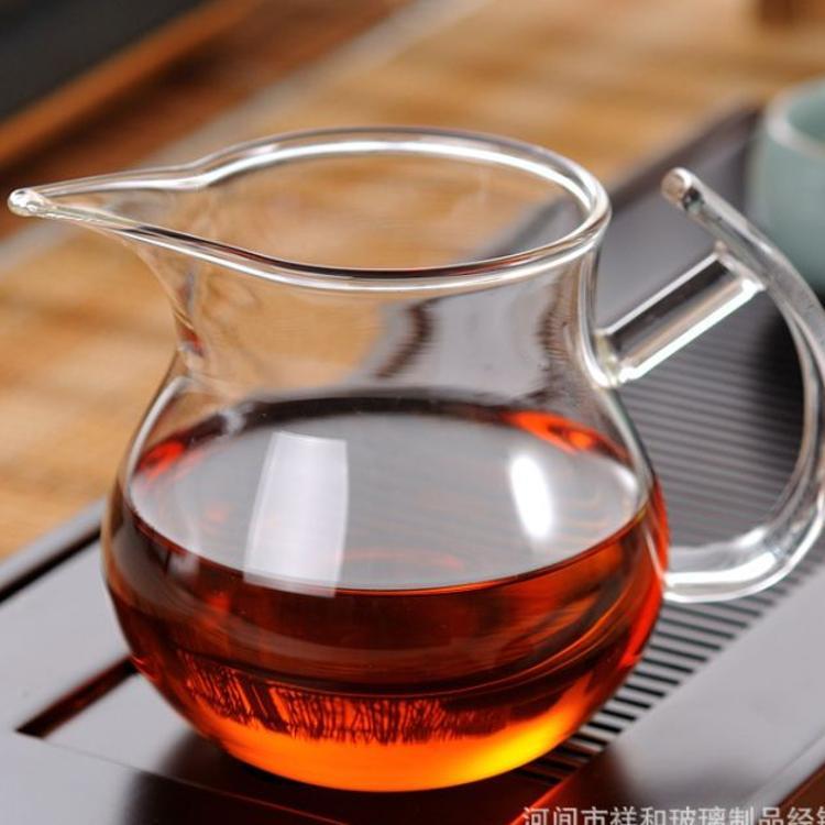 透明玻璃公道杯 玻璃茶具 加厚耐热玻璃分茶器公道杯