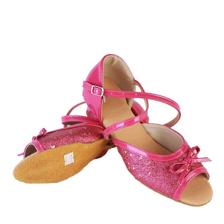 2018新款舞蹈鞋儿童拉丁舞鞋 软底跳舞鞋 女童跳舞鞋练功鞋