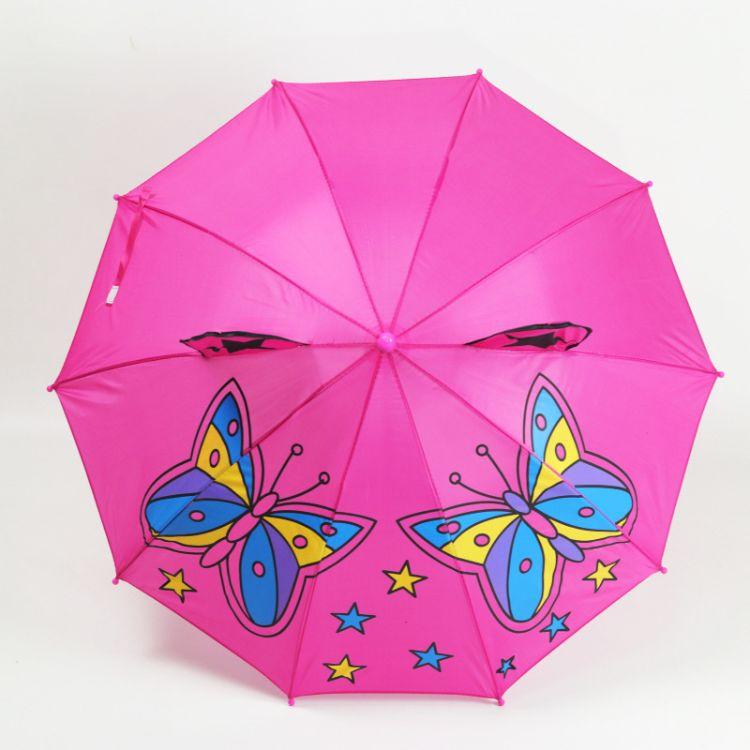儿童雨伞立体儿童伞耳朵伞创意礼物卡通伞动物伞蝴蝶耳朵伞批发
