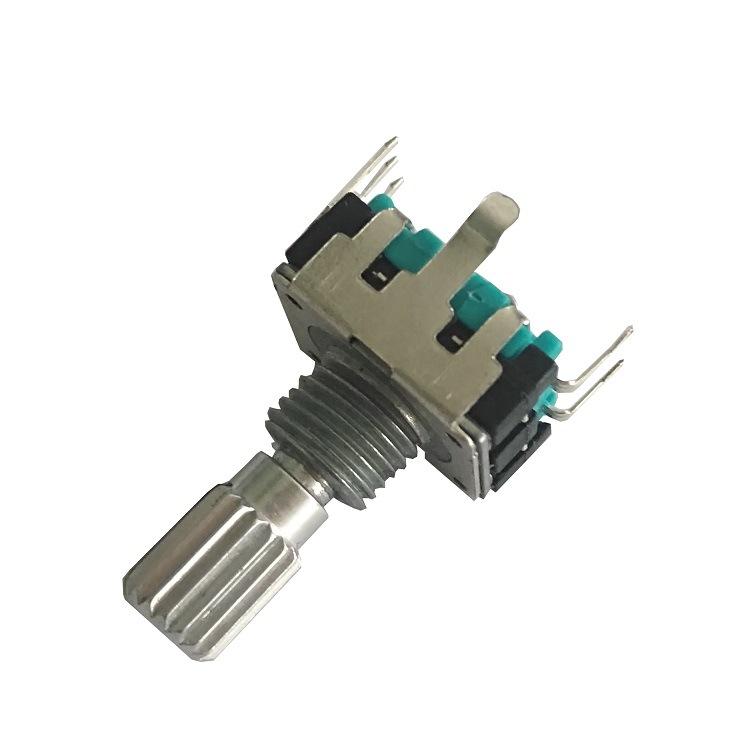 旋转编码器 开关/增量/音响编码器/声卡编码器/EC12型带齿带螺纹