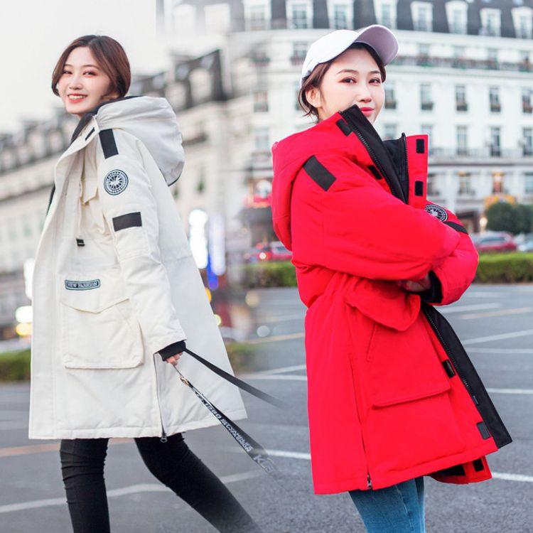 冬季防寒服户韩版户外运动休闲连帽加厚棉衣派克服女