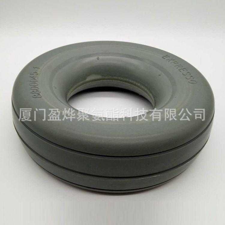 批量生产 纯PU发泡轮子实心 聚氨酯耐磨制品 聚氨酯弹性体轮胎