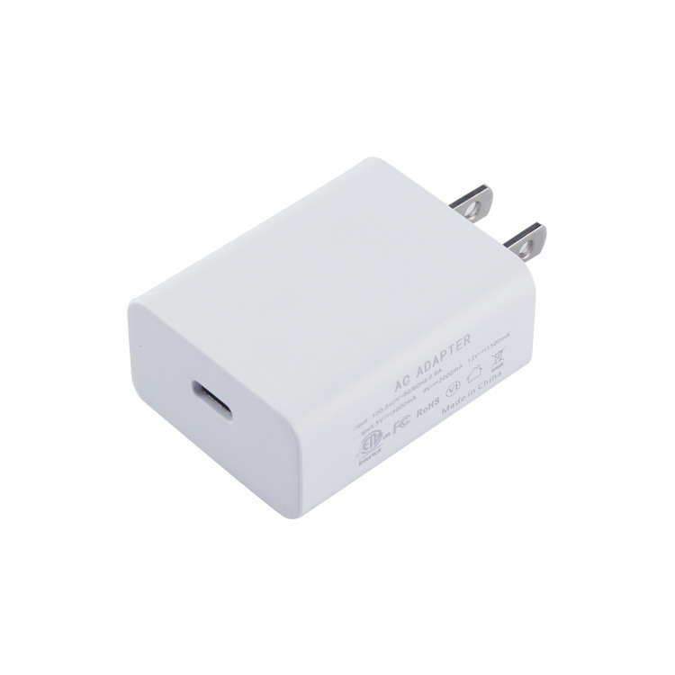 PD充电器 适用于苹果X手机PD充电器 18W快速PD协议TYPE-C适配器