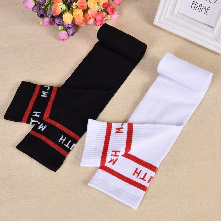 全棉中筒袜 女童运动袜 儿童足球袜 针织棉料高筒袜明星同款