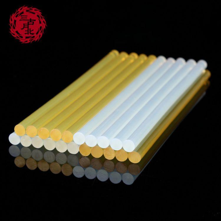 厂家直销合成胶粘剂环保热熔胶棒胶条7MM透明胶棒可批发