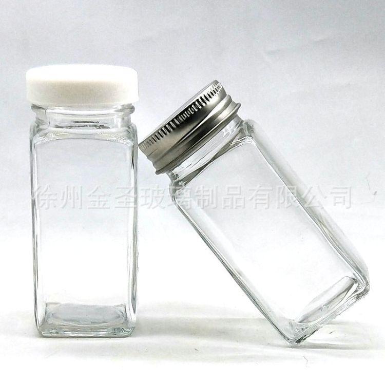 玻璃瓶厂家现货供应120ml胡椒粉瓶优质透明小玻璃瓶调味品玻璃瓶