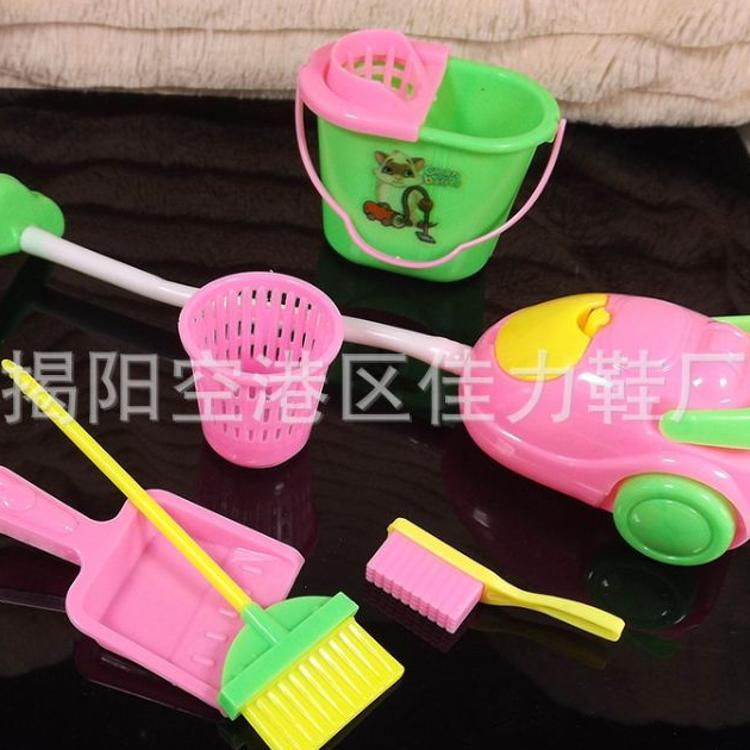 洋娃娃清洁工具套装 babi娃娃时尚家居仿真迷你芭芘玩具配件