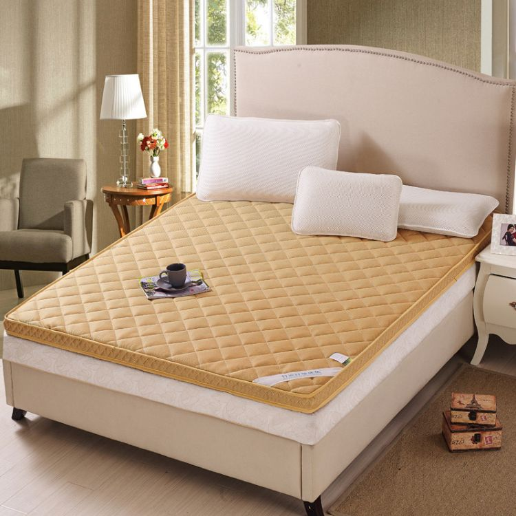 厂家直销竹炭纤维立体绗缝多用床垫 加厚床上用品四季床垫