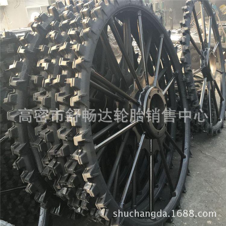 现货定做农用轮胎0.6米1.1米到2.1米打药机轮胎充气轮胎带钢圈