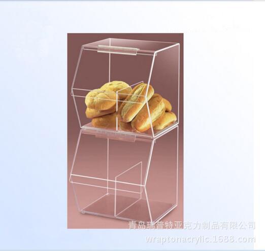 定制亚克力糖果盒,供应超市亚克力面包,蛋糕,甜点展示收纳盒