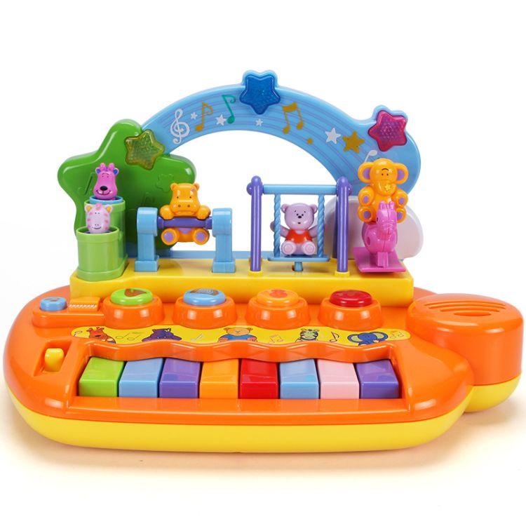谷雨玩具儿童电子琴宝宝小钢琴音乐早教琴婴儿启蒙玩具8627A批发