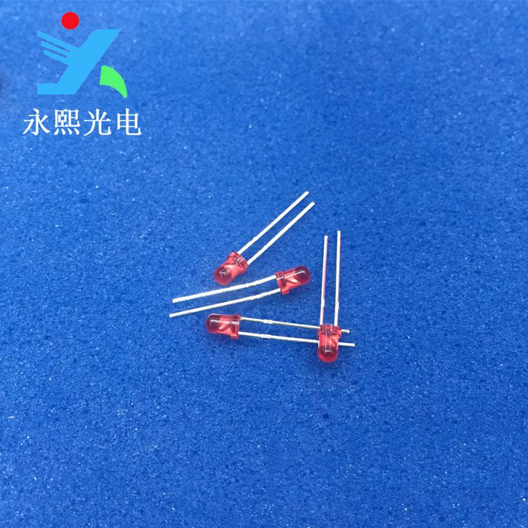 f3短脚led红发红光直插 3MM红色发光二极管led灯珠 红灯