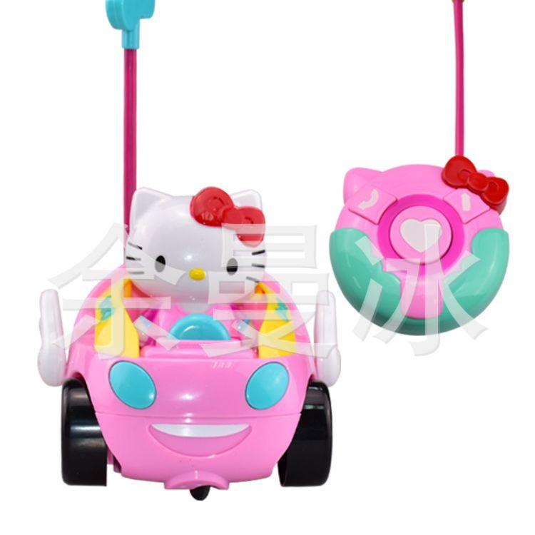 儿童玩具遥控车 KT猫无线电动卡通音乐玩具车带灯光淘宝热卖玩具