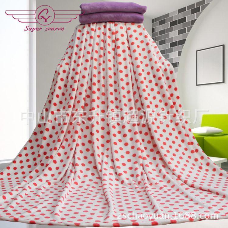 广东厂家生产毛毯法兰绒毯子印花法兰绒毯单双人法莱绒空调午睡毯