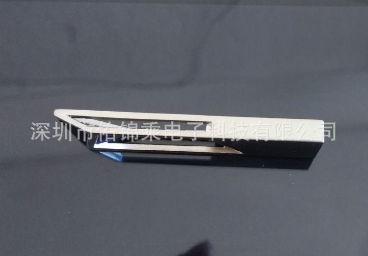 厂家批发16GB金属镂空U盘黑色银色雷射刻字激光雕刻LOGO创意礼品