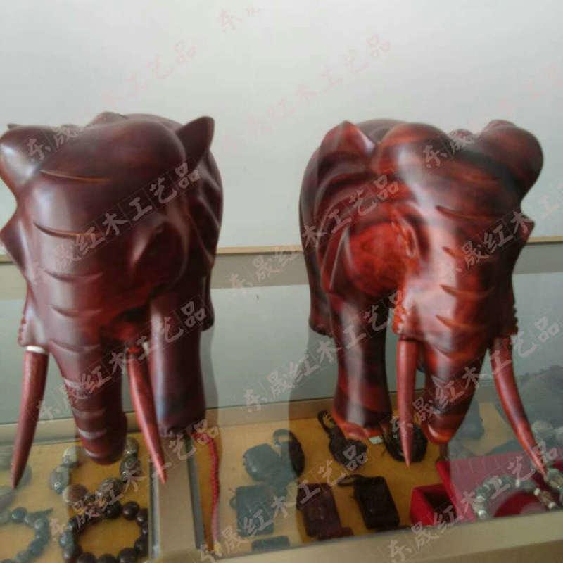 工艺品实木雕刻定做创意招财大象 办公家居摆件木雕工艺品