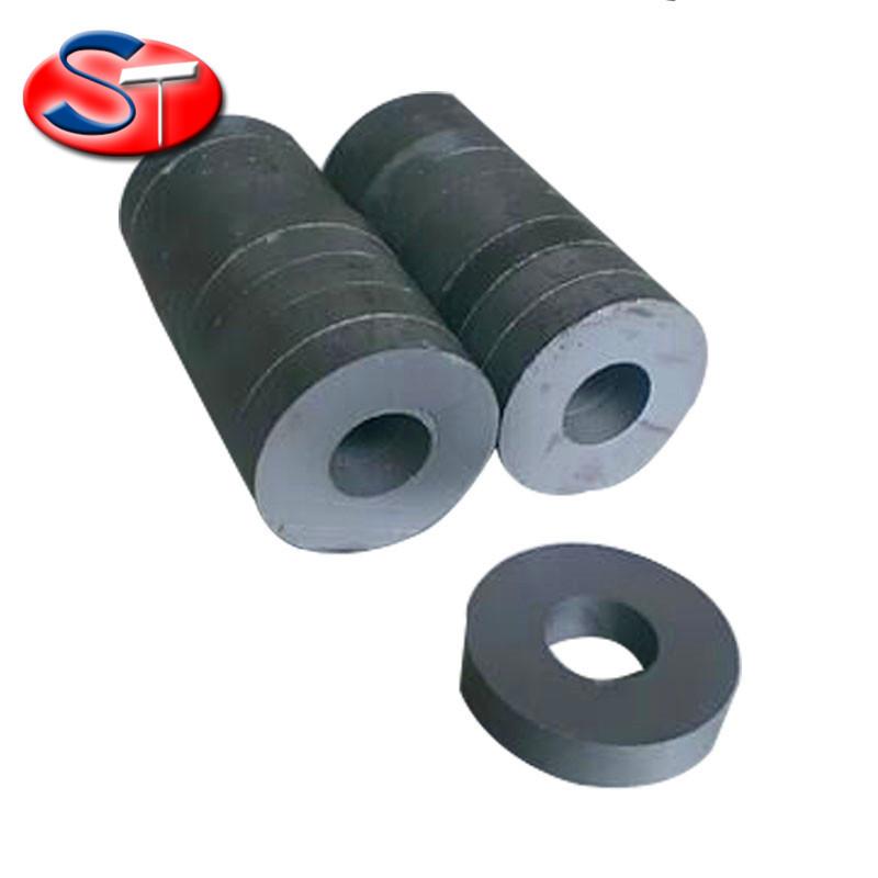 盛通厂家直销铁氧体永磁王 普磁 喇叭磁黑色磁铁 圆环磁铁40*19*8