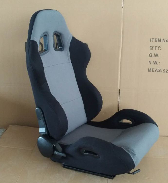 厂家直销汽车座椅改装单滑道调角器灰色绣标赛车椅专用配件电竞椅