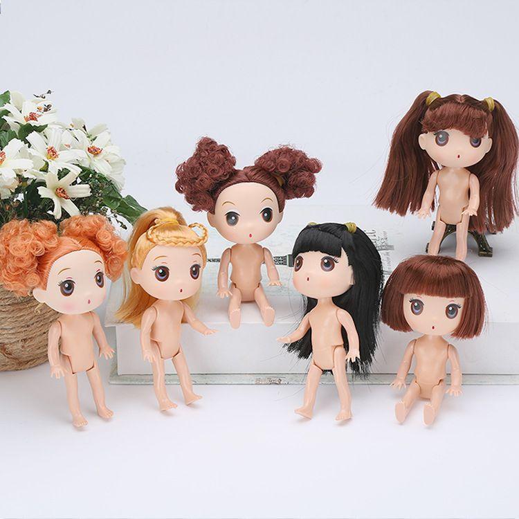 厂家批发12cm迷糊玩具娃娃 烘焙模具素体裸娃 泡泡浴蛋糕模型玩具