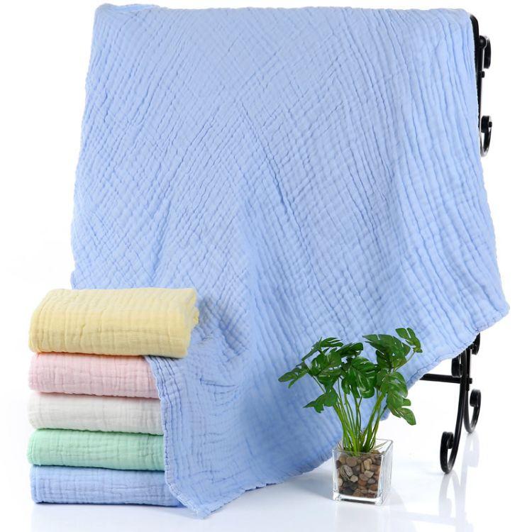 纯棉包被婴幼儿浴巾童被柔软透气全棉儿童毛巾被六层水洗纱布
