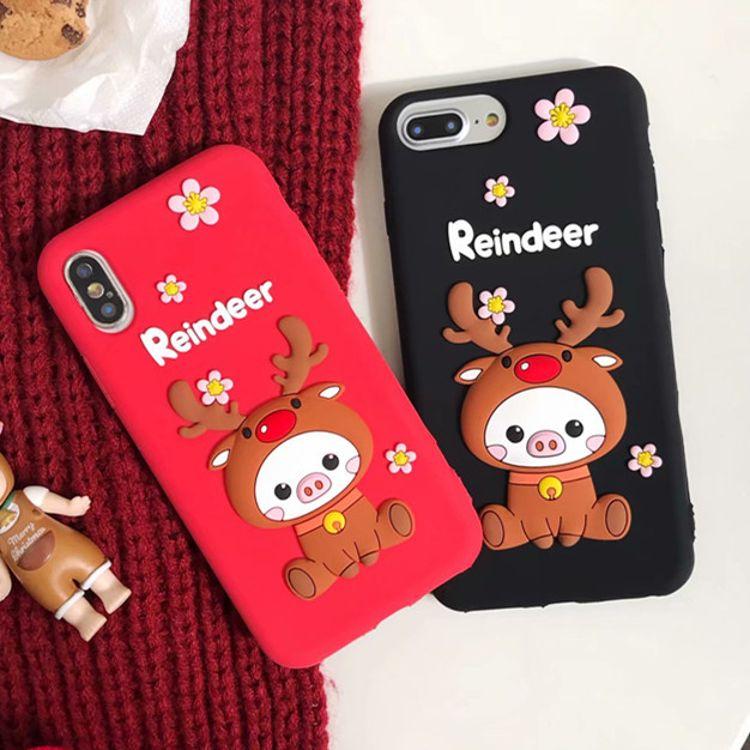 大量定制卡通招财猫硅胶手机套 适用于iphone防摔硅胶保护套 批发