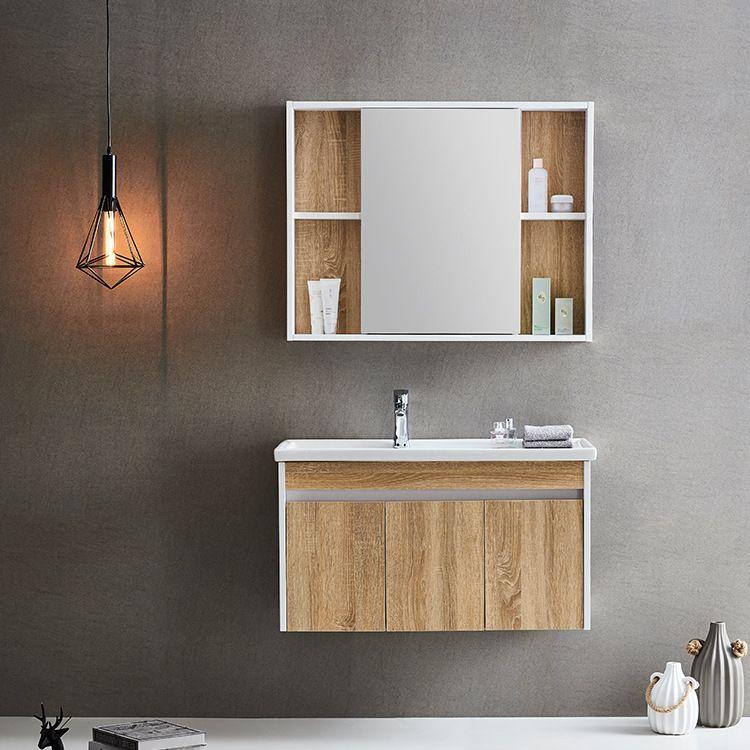 厂家直供 实木浴室柜 整体卫生间 陶瓷洗手盆 小户型洗脸盆