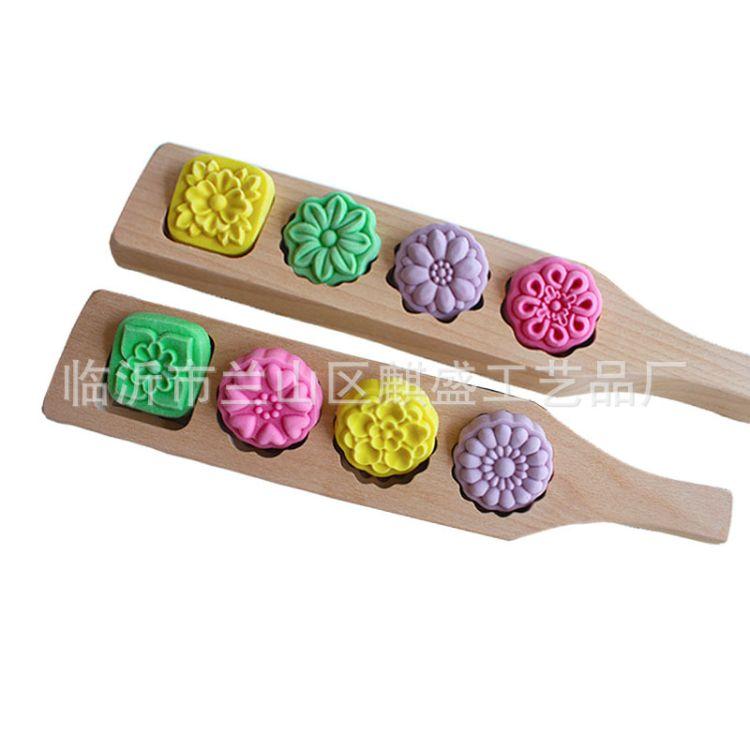 木质纹理加深模具冰皮月饼模具烘焙南瓜面食清明果模子厂家直销