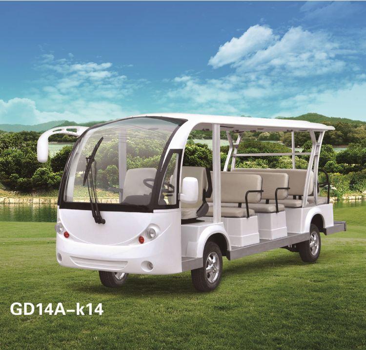 景区14座四轮电动观光车四川成都生产厂家冬季带门游览观光电瓶车