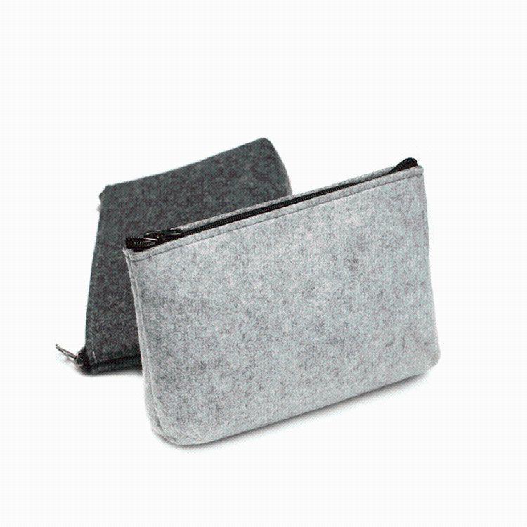 厂家直销毛毡包 充电器电源鼠标包 毛毡数码配件包毛毡电源包
