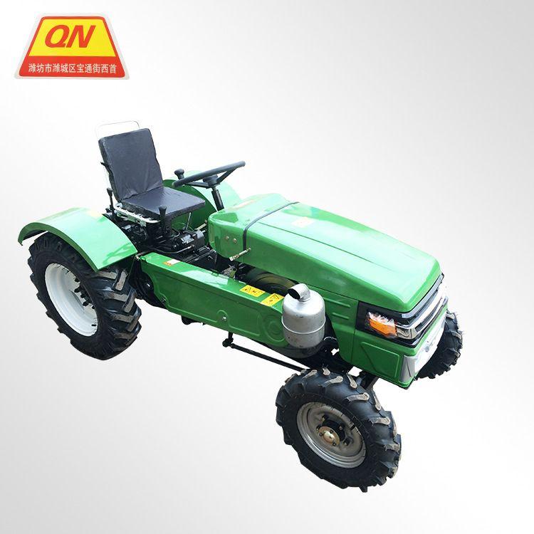 多功能四轮管理机 侧坐四轮田园管理机 小四轮拖拉机配旋耕机