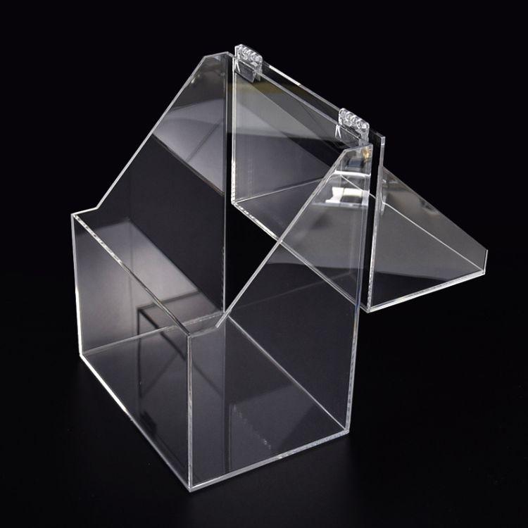开模定制有机玻璃翻盖包装盒生产亚克力收纳盒透明亚克力糖果盒