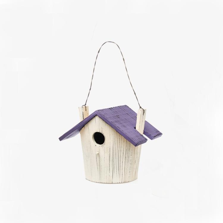 防腐木鸟窝鸟巢装饰鸟笼户外鸟屋装饰品木质麻雀鸟房子鸟屋鸟用具