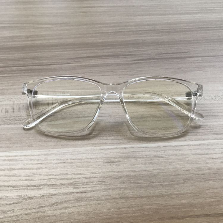 新款方形框纯透明眼镜架 复古大框白色眼镜框 配近视光学镜架3147
