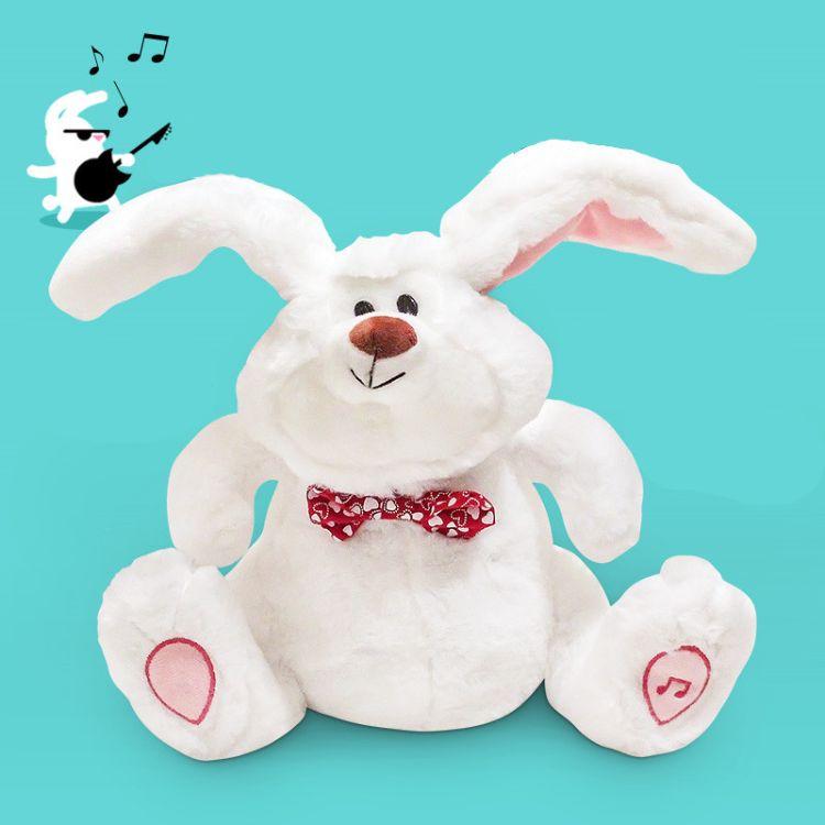 疯狂摇摆兔子公仔玩偶会唱歌跳舞甩耳朵电动故事机带音乐毛绒玩具
