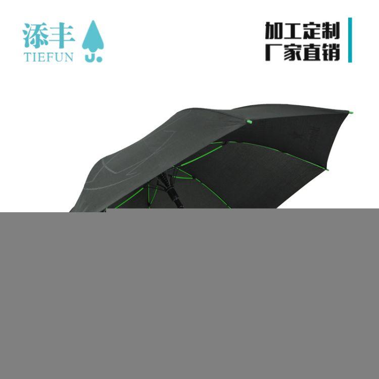 高档商务礼品伞 超大抗纤维伞骨 深圳厂家 定制高尔夫伞 印刷logo