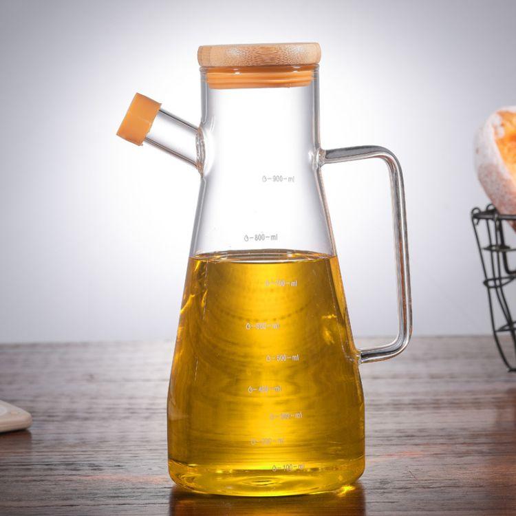臻琦厂家直销高硼硅玻璃油醋壶控油瓶酱油壶密封防漏调味料刻度壶