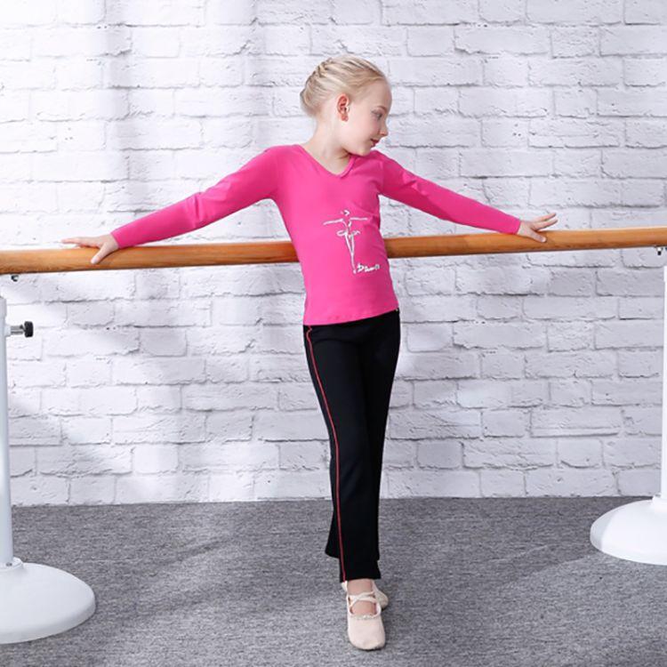 儿童舞蹈服女童练功服长袖套装秋冬加绒冬季舞蹈衣拉丁舞服装批发