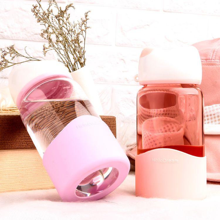 厂家直销玻璃杯猫咪喵喵杯高硼硅玻璃水杯便携礼品杯