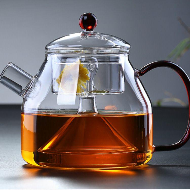 玻璃蒸茶壶 加热养生壶 电陶炉专用煮茶壶 黑茶蒸汽壶 玻璃茶具