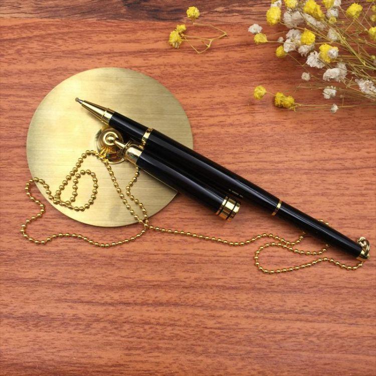 厂家直销高档金属台笔 圆珠笔商务酒店广告台笔 柜台专用金属台笔