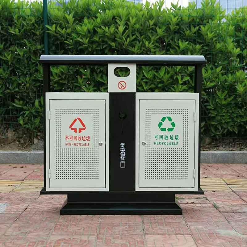 垃圾桶廠家科陽不銹鋼分類垃圾箱果皮箱