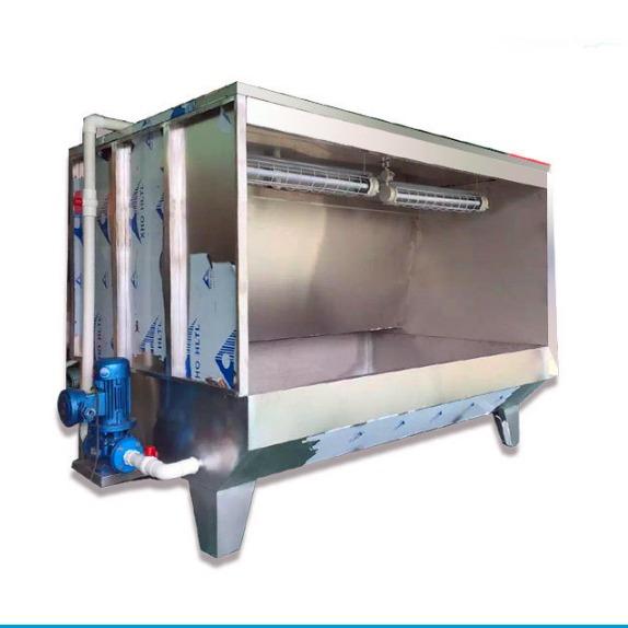 门窗木筏喷油喷漆水帘柜 塑料玩具喷涂水濂机 双工位水淋柜打磨台