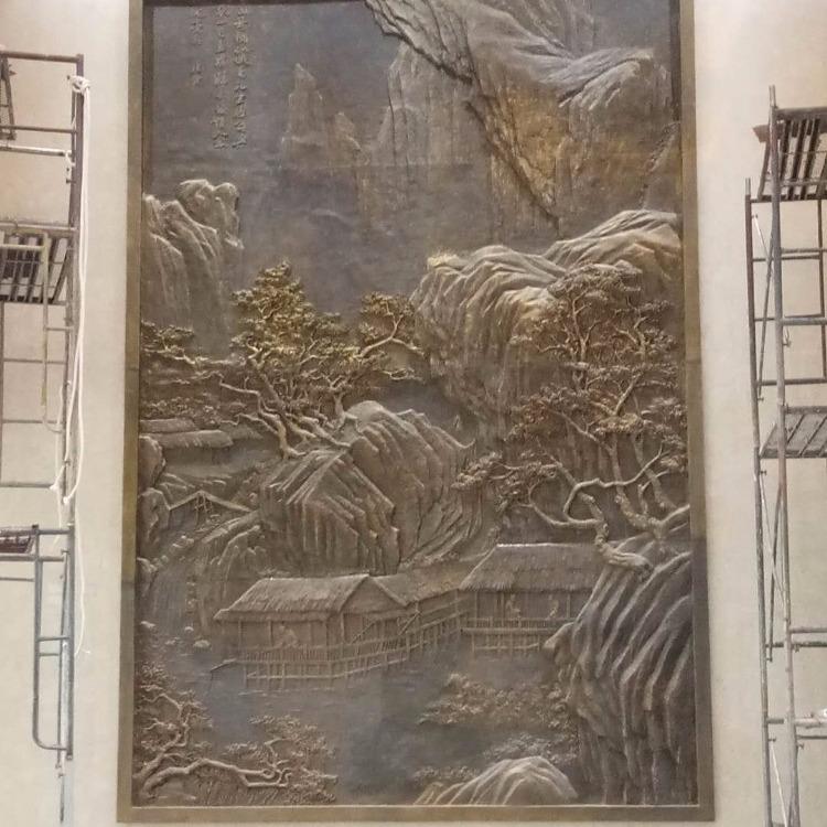 大型戶外鍛銅人物浮雕廠家加工廈門匠心遠航雕塑