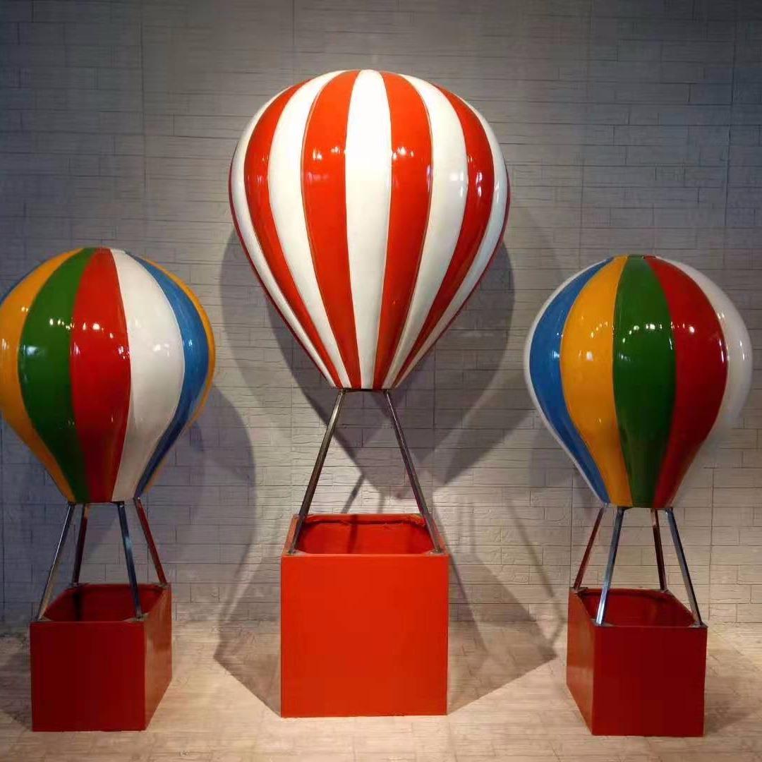 商場條紋玻璃鋼美陳氣球道具工廠廈門匠心遠航雕塑