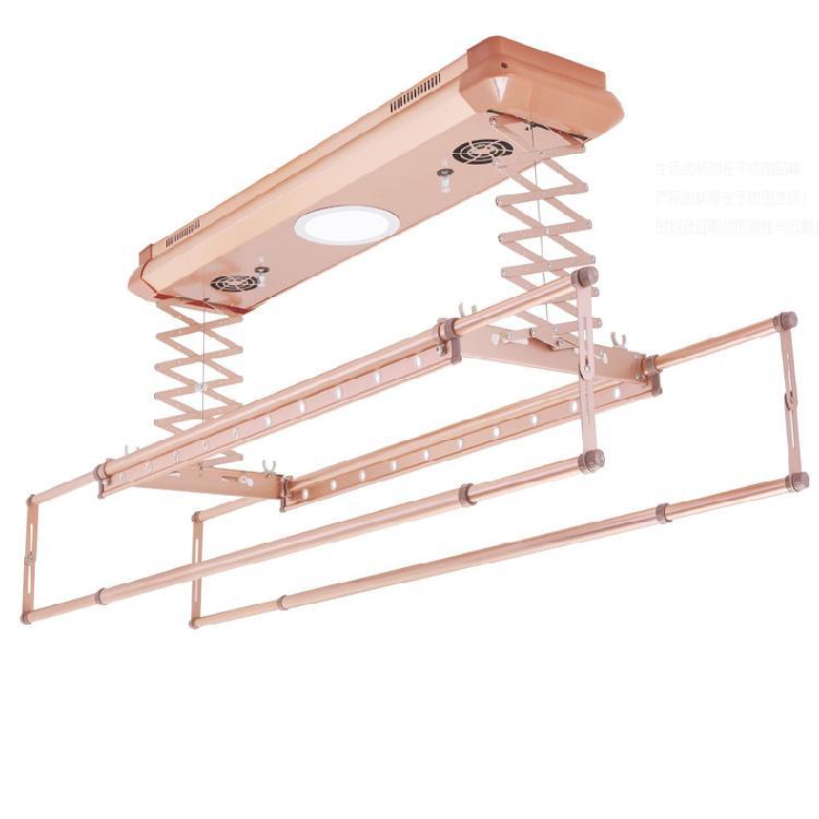 升力智能晾衣机 电动晾衣架 家用阳台伸缩晾晒自动升降带遥控衣杆