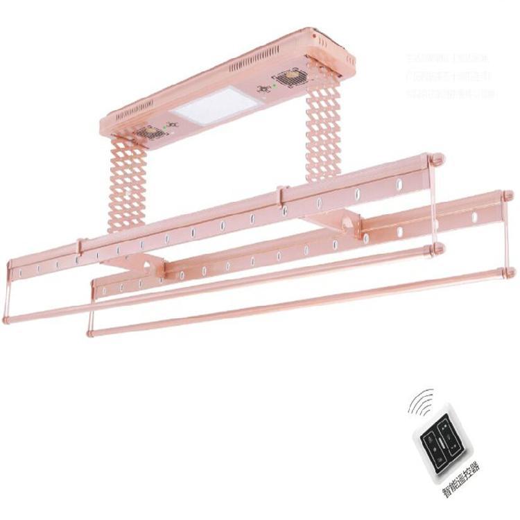 升力廠家電動智能晾衣架 陽臺升降遙控自動集成吊頂伸縮機 包安裝