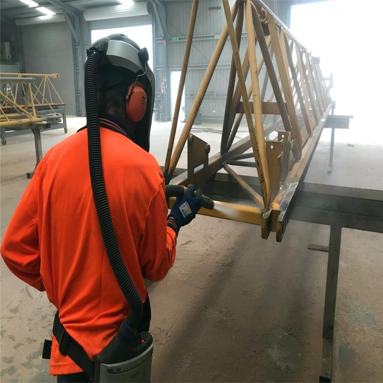 廠家直銷塔吊水沙混合噴砂機 創富翻新除銹脫漆水噴沙機