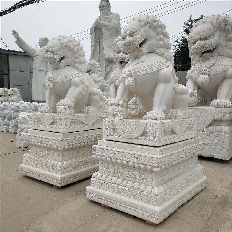 弘正園林 石獅子-庭院擺放-家用小獅子擺件