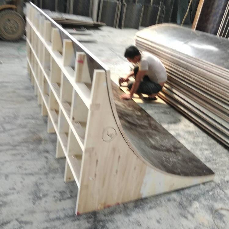 江苏泰州 圆柱子模板厂家 欧特 圆柱形木模板厂家
